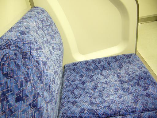 東武鉄道50050系ニューバージョンのシートモケット.JPG